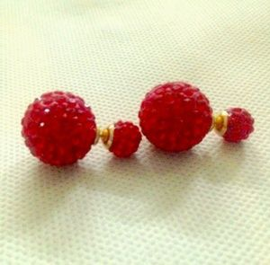 NEW RED ear rings.